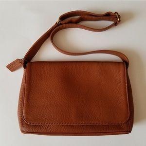 Vintage Coach pebble cognac handbag